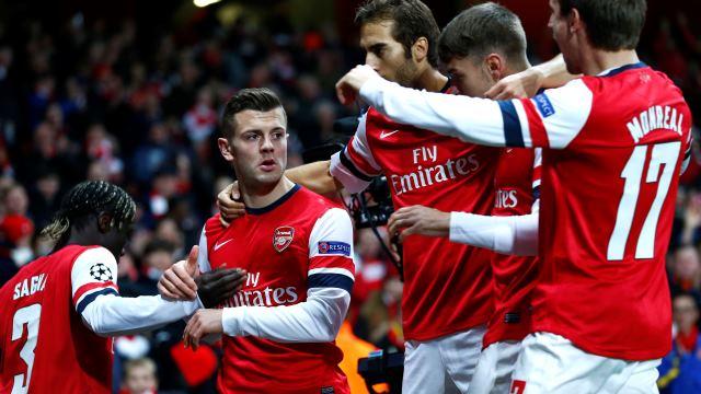 Arsenal'in zirve keyfi