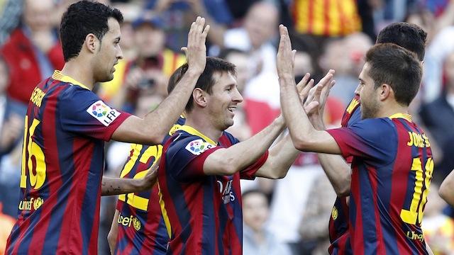 Messi rekor kırdı, Barça şov yaptı