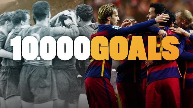 Barcelona'nın on bininci golü Messi'den