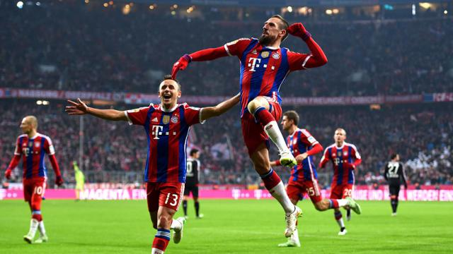 Bayern, Ribery ile kazandı