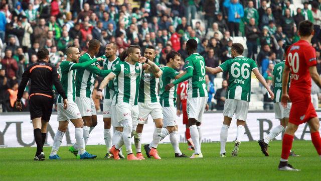 Bursaspor gol oldu yağdı!
