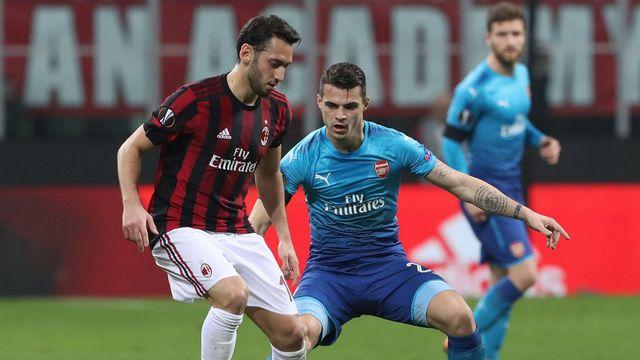 Arsenal, Milan'ı ilk yarıda devirdi