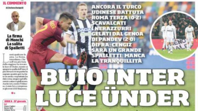 Cengiz Ünder İtalya'da manşetlerde