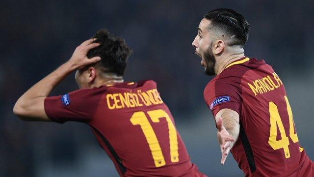 Cengiz girdi, Roma Barça'yı eledi