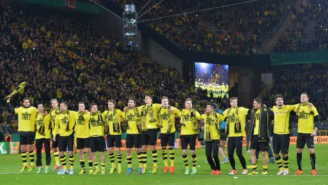 Almanya Kupası'nda ilk finalist Dortmund