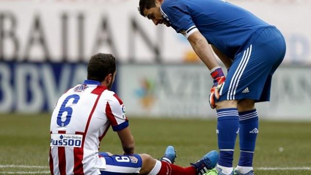 Atletico Madrid'de şok sakatlık