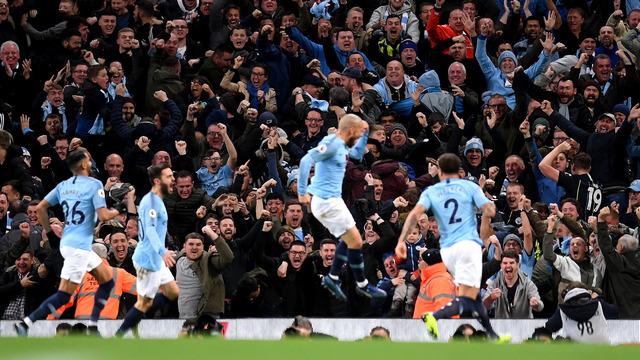 Manchester derbisinde City güldü