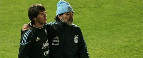 Maradona, Messi'yi Savundu