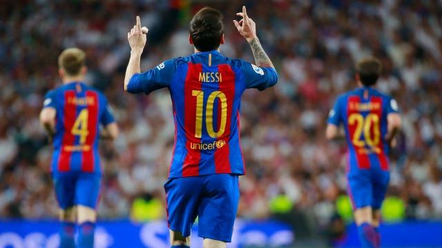 El Clasico'da Messi resitali