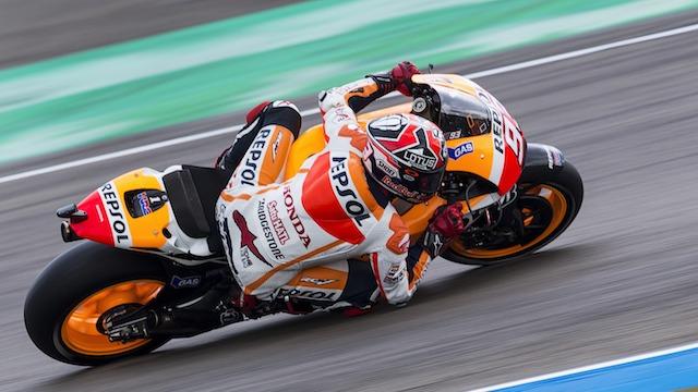 Nefes kesen yarış Marquez'in