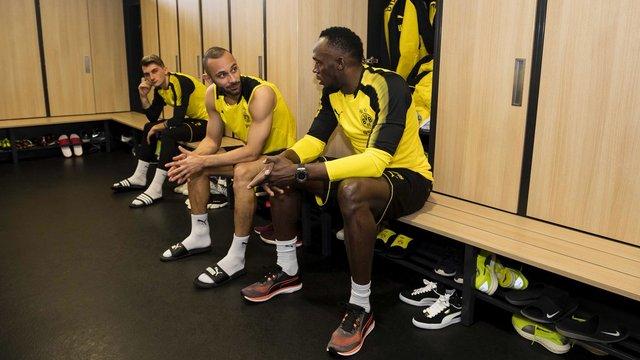 Bolt, Borussia Dortmund antrenmanında!
