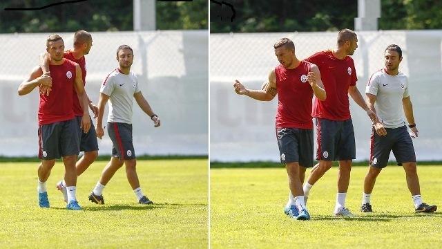 Galatasaray'da olaylı antrenman