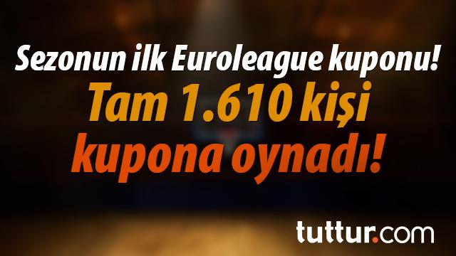 Sezonun ilk Euroleague kuponu! Tam 1.610 kişi kupona oynadı!