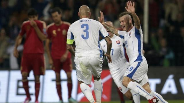 Slovakya İspanya'yı devirdi