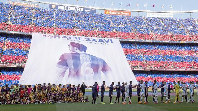 Barcelona Xavi'yi uğurladı