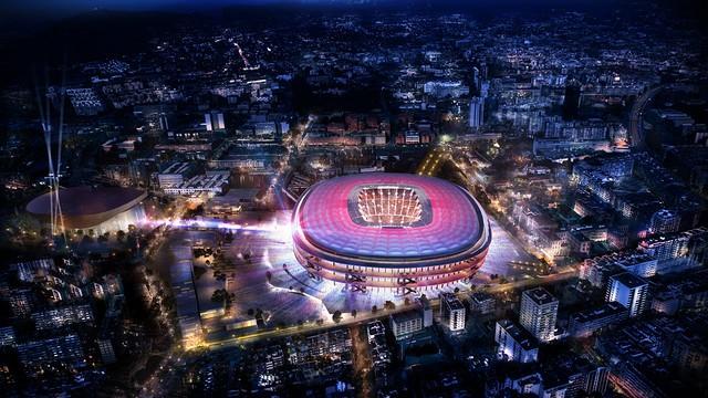 Barcelona yeni Nou Camp'ı tanıttı